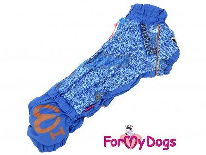 Obleček pro psy jezevčíků overal BLUE