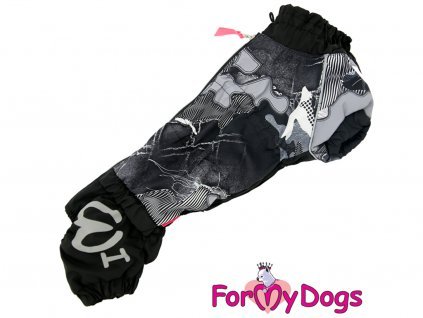 Obleček pro psy jezevčíků overal BLACK