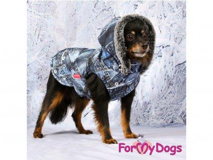 Obleček pro psy i fenky zimní bunda DENIM BLUE 7
