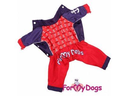 Obleček pro fenky – pláštěnka ForMyDogs, námořnický motiv