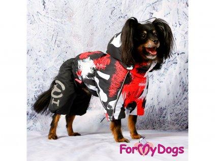 Obleček pro psy zimní overal ZEBRA RED 2