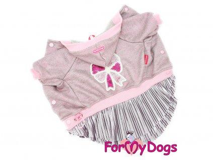 Obleček pro fenky šaty PINK BOW