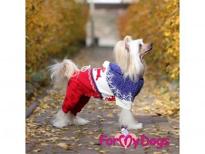 Obleček pro psy i fenky pletený overal RED REINDEER 4