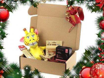 Vánoční BOX pro psy Žirafa