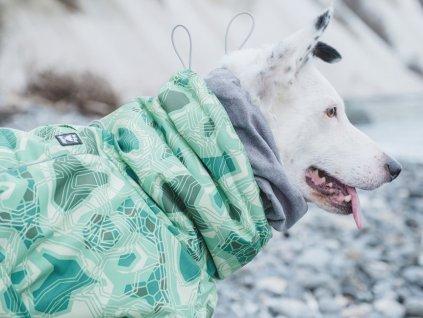 Obleček pro psy Hurtta Extreme Warmer CAMO zelený