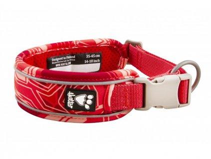 Obojek pro psy Hurtta Weekend Warrior CAMO červený