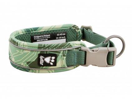 Obojek pro psy Hurtta Weekend Warrior CAMO zelený