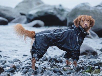 Obleček pro psy HURTTA Downpour Suit, černý
