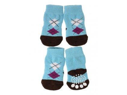Ponožky pro psy blue brown