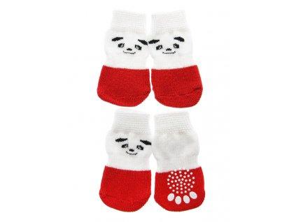ponozky red white panda