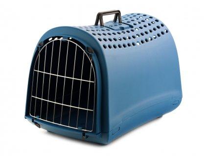 Přepravka pro kočky a malé  psy CAMON modrá