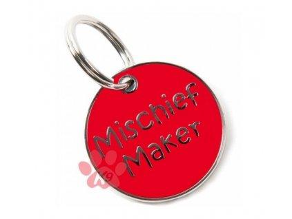 """Známka pro psa K9 """"Mischief Maker"""""""