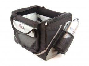 Praktický přepravní box-taška na psa k připevnění na řídítka