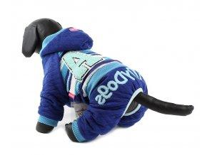 Úpletový overal pro psy a fenky For My Dogs, modrý
