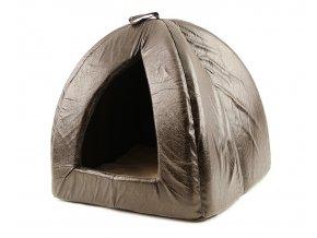 Kožený domeček, bouda, pelíšek pro kočky a malé psy