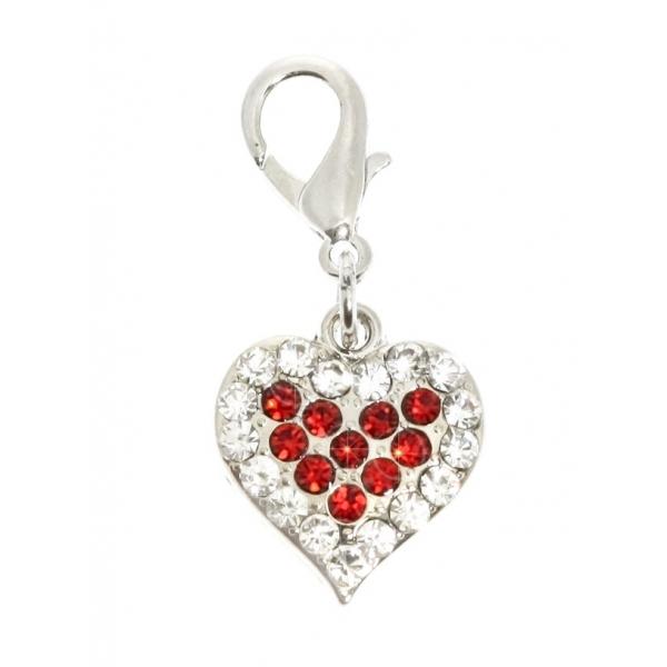 URBAN PUP Přívěsek s krystaly HEART