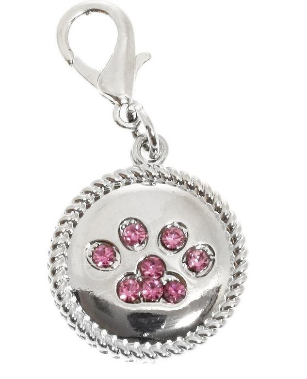 URBAN PUP Přívěsek s růžovými krystaly PAW
