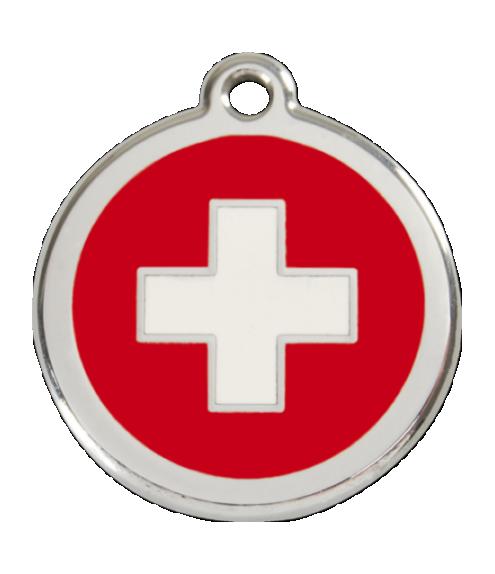 RED DINGO známka Švýcarský kříž Malá