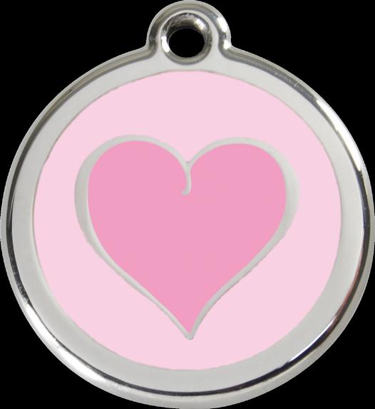 RED DINGO známka Srdce Růžové 20 mm