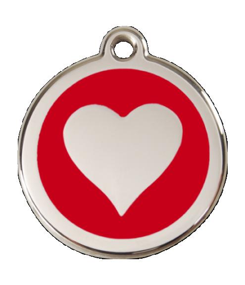 RED DINGO známka Srdce červená Malá