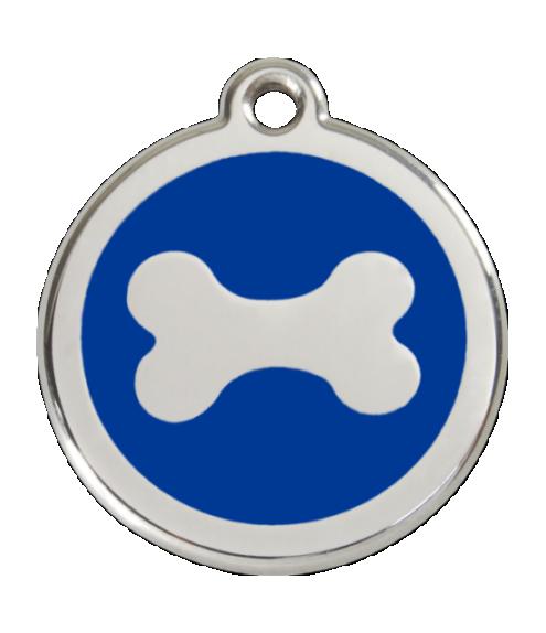 RED DINGO známka Kost modrá Malá