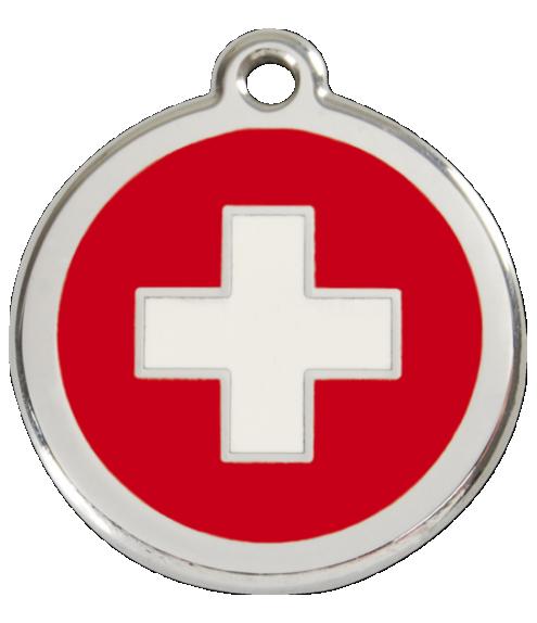 RED DINGO známka Švýcarský kříž Střední