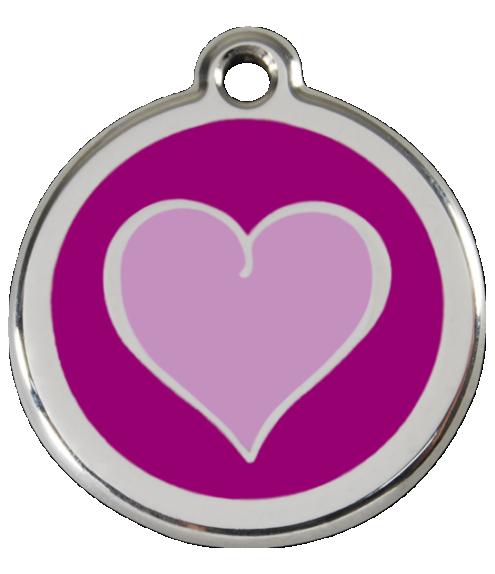 RED DINGO známka Srdce fialová Střední