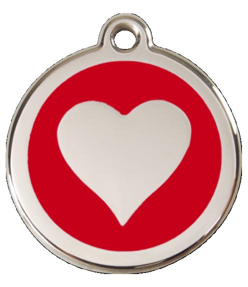 RED DINGO známka Srdce červená Střední