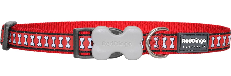 RED DINGO obojek reflexní červený 20-32 cm