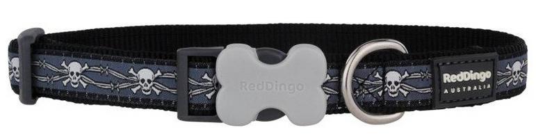 RED DINGO obojek Skull Wire Black 24-37 cm