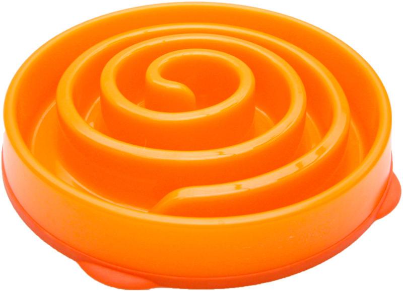 KYJEN miska Slo-Bowl Coral – oranžová