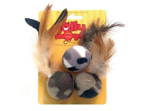 Hračka pro kočky Feather Fleece-balls