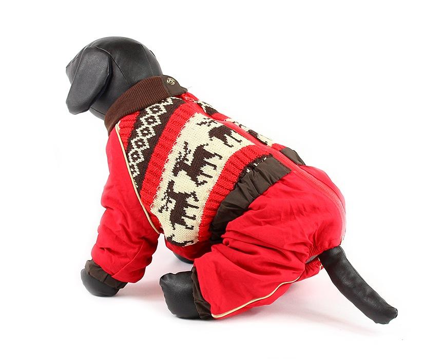 For My Dogs Zimní overal pro fenky Nylon s úpletem Velikost: 12/S