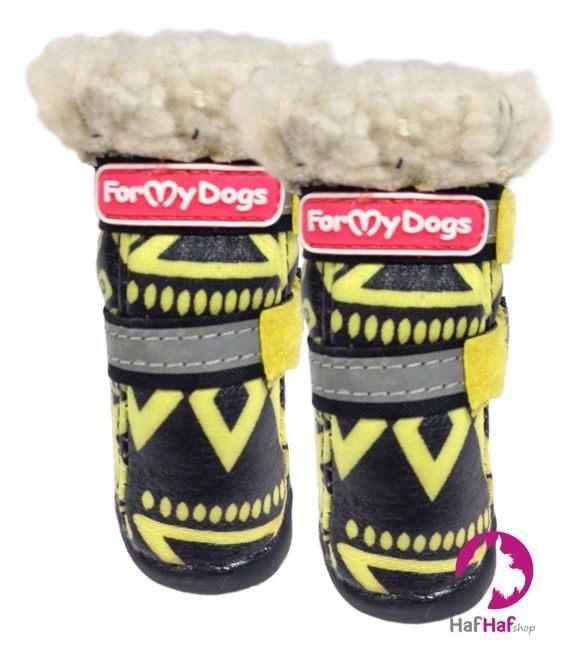 FOR MY DOGS Boty Žlutočerné Velikost: 2