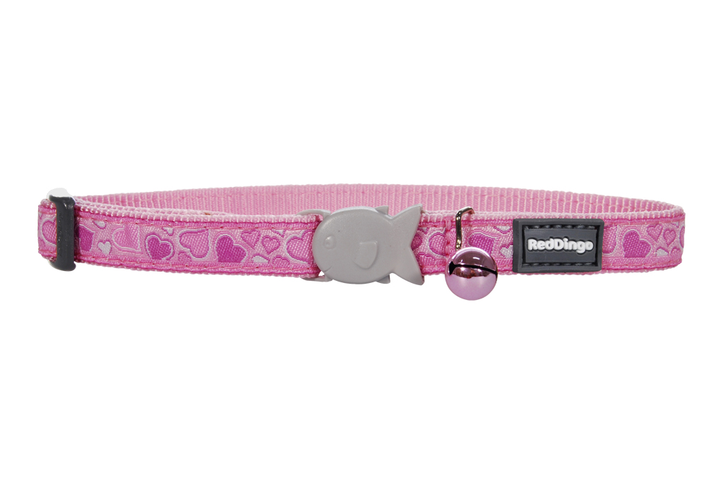 Red Dingo Obojek pro kočky Breezy Love Pink 20 - 32 cm