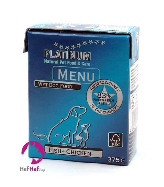 PLATINUM Natural MENU Fish+Chicken 375 g