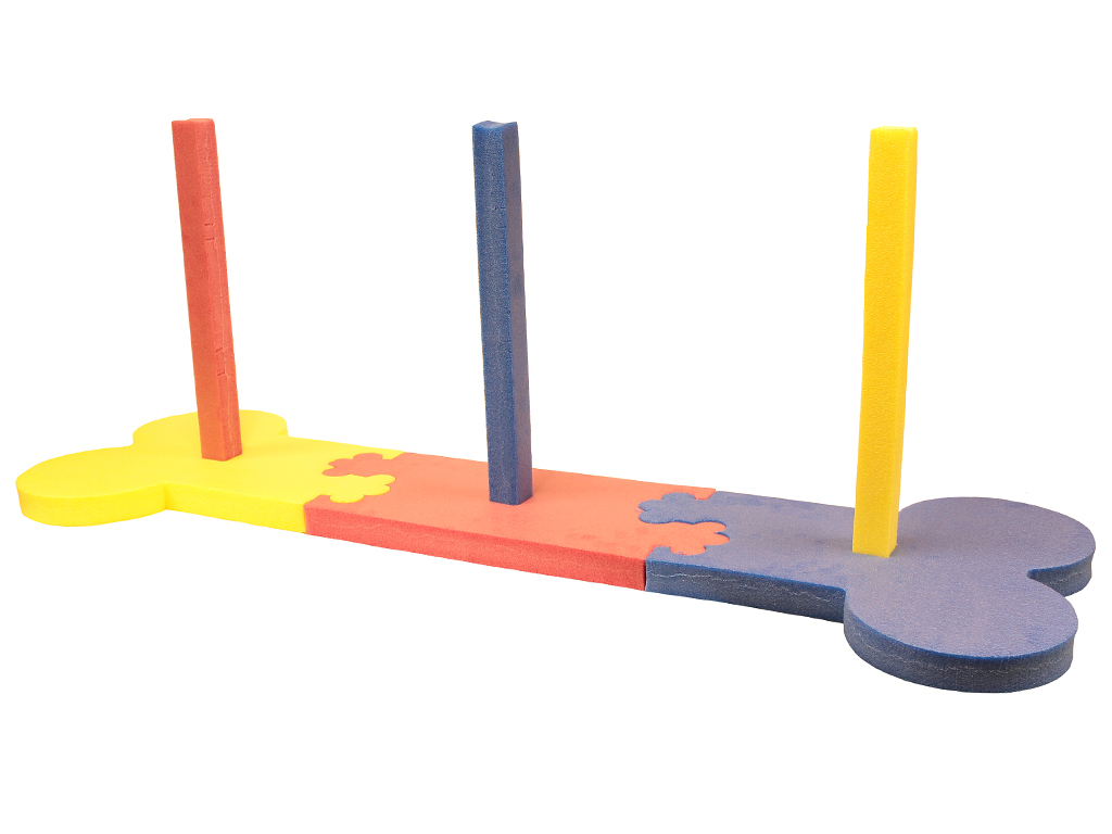 ROSEWOOD Slalom Small Agility 134 × 45 × 54 cm