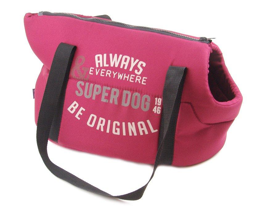 BOBBY Superdog Taška 40×23cm Červená