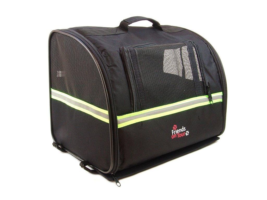 HafHaf-shop Taška na nosič kola pro psa do 6 kg Černá