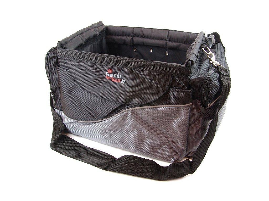 HafHaf-shop Taška na kolo pro psa do 7 kg Černá