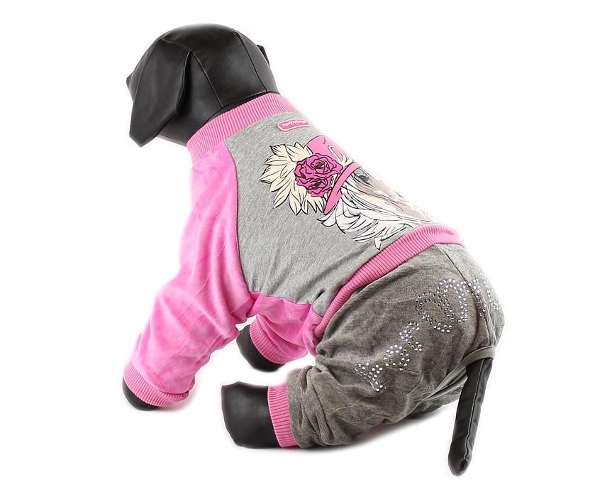 For My Dogs Overal Růžový s potiskem Velikost: 20/XXL