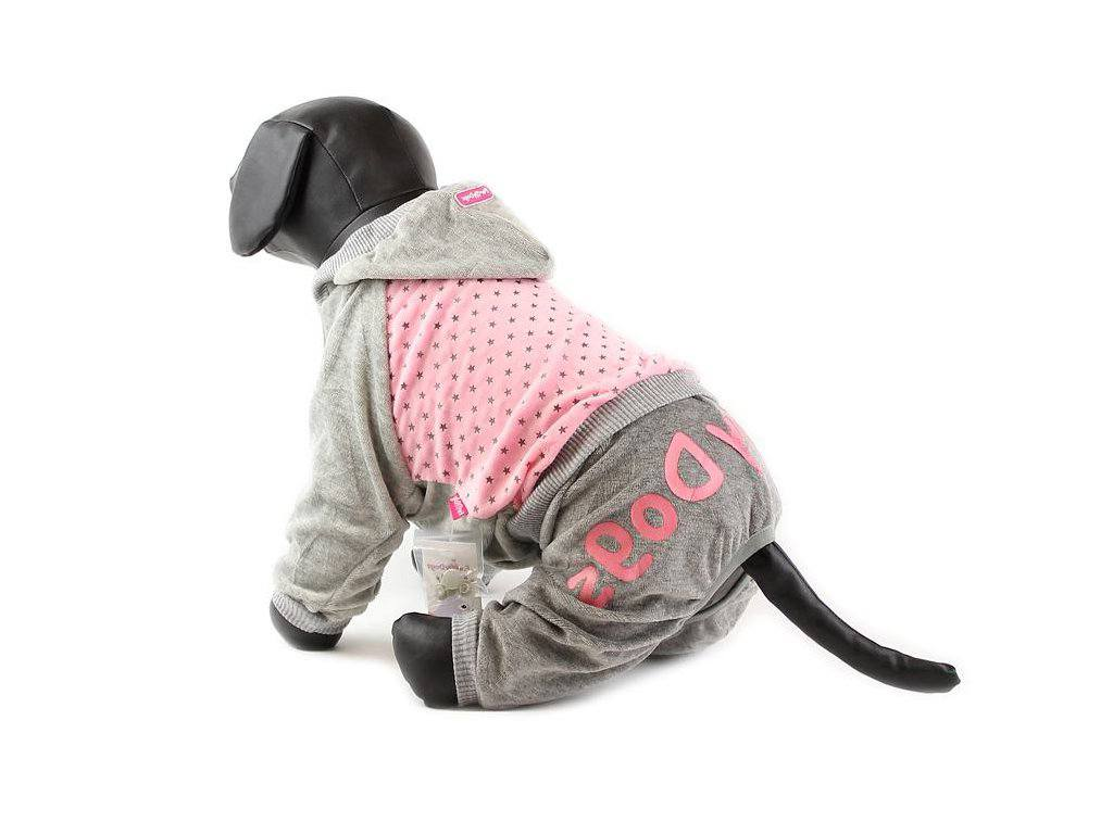 For My Dogs Overal Růžový s hvězdami Velikost: 12/S