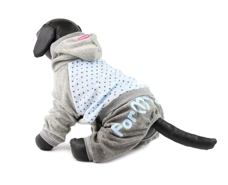 For My Dogs Overal Modro-šedý s hvězdami Velikost: 12/S