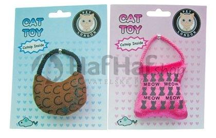 Hračka pro kočky Catnip Handbag hnědá