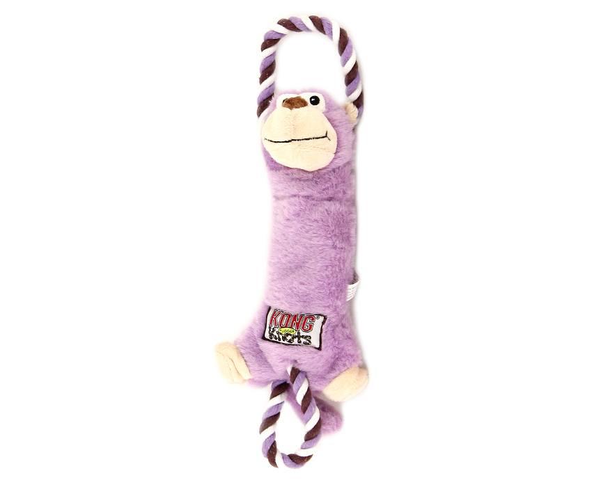 KONG Hračka Plyšová Fialová Opice 35 cm