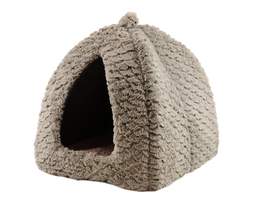 ROSEWOOD Pelech Grey and Pink Fleece Pyramid 40×40×40 cm Šedý