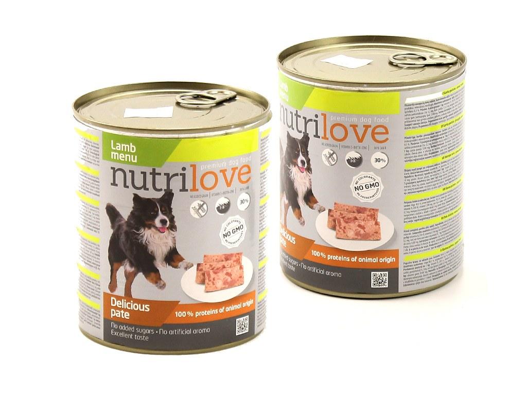 Nutrilove pes jehněčí 800 g