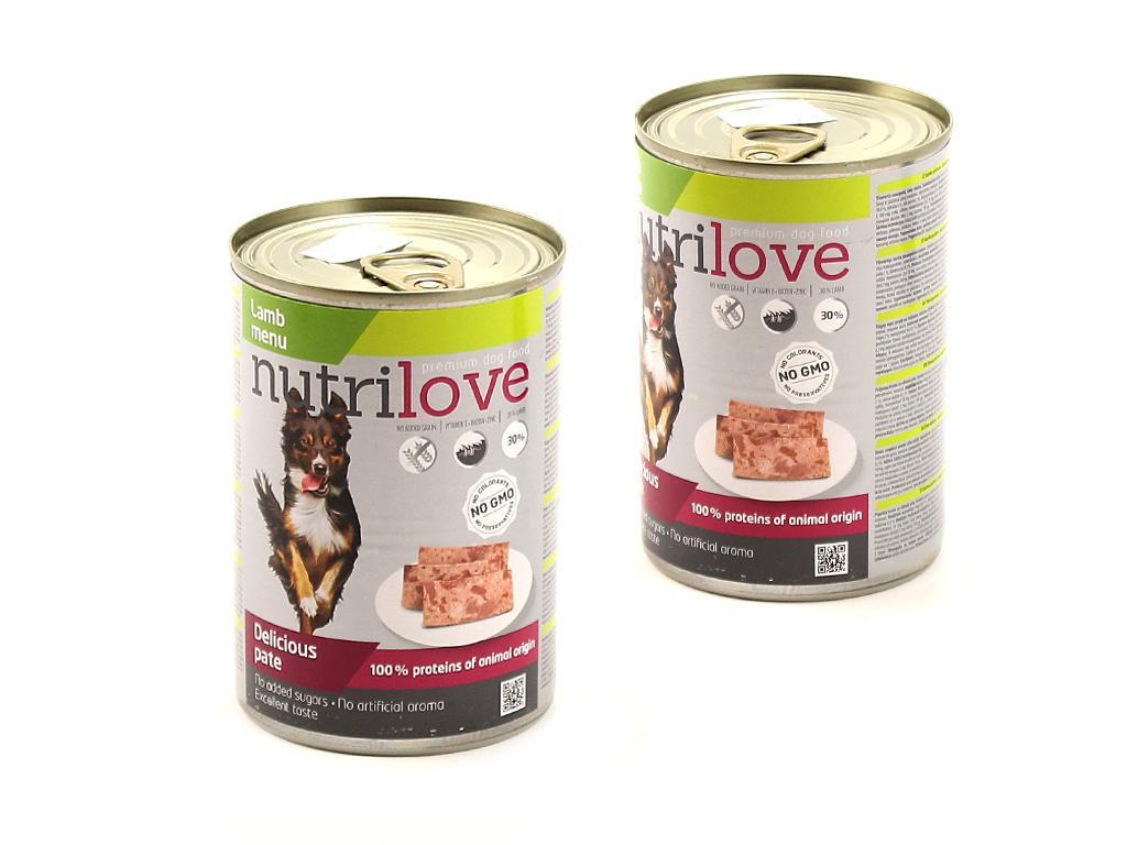 Nutrilove pes jehněčí 400 g