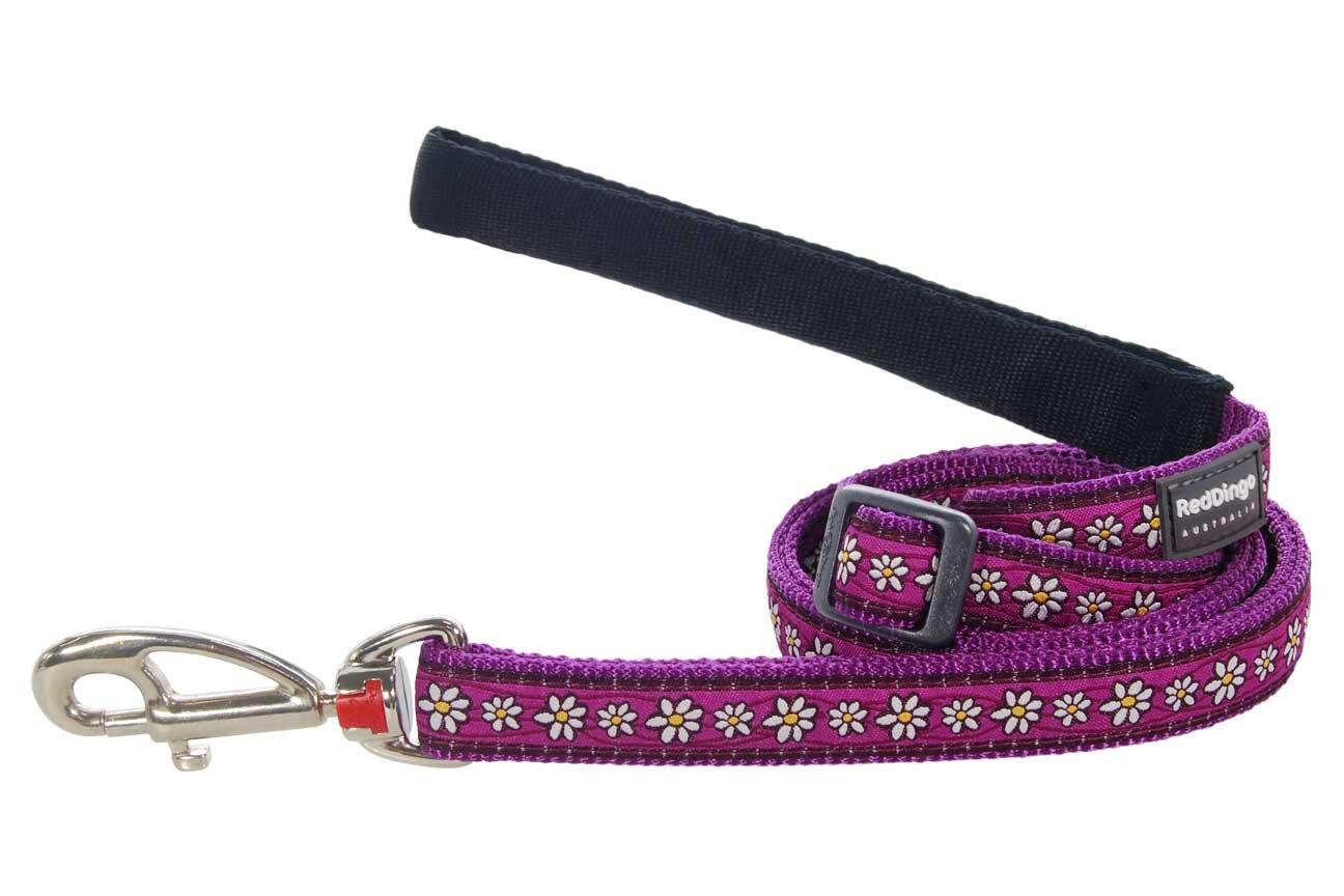 RED DINGO Vodítko Fialové Daisy Chain Purple Velikost: 25