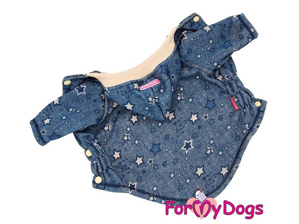 FOR MY DOGS Mikina Jeans Modrá Velikost: 10/XS
